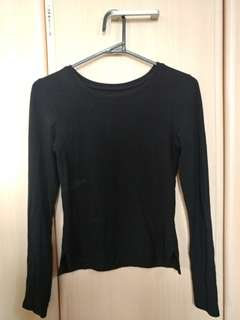REPRICED! Black Ribbed Top