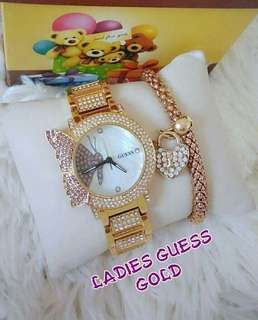GUE SS / FOSS IL LADIES WATCH SET WITH BANGLE