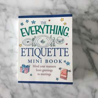 The Everything Etiquette Mini Book
