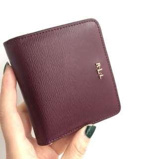 Ralph Lauren Burgundy wallet (like new condition)