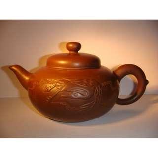 珍藏早期宜興紫砂泥徐珍妹茗壺420cc(180415) 0