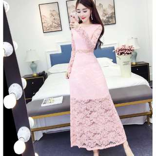 LONG DINNER DRESS ( Pre-order 180415 ) PROMO PRICE