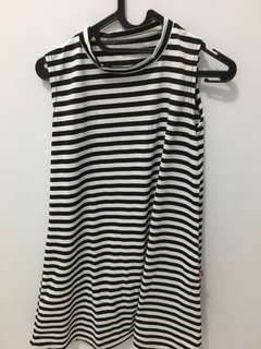 Baju Stripe no sleeve