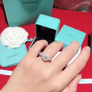 T&co Double round Diamond Ring