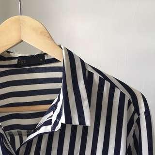 Padini Stripes Blouse (White)
