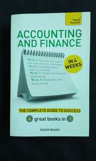 Accounting and Finance In 4 Weeks! (Teach Yourself)
