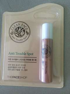 Selling new the faceshop clean face acne trouble spot