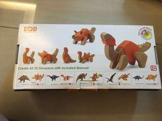 EQB Dino series wooden tots
