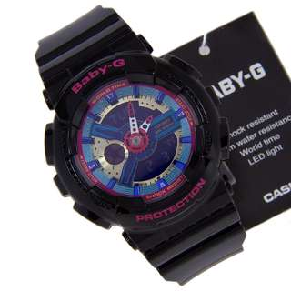 100% Authentic digital analog Casio Baby-G BA-112-1ADR G-Shock for sale