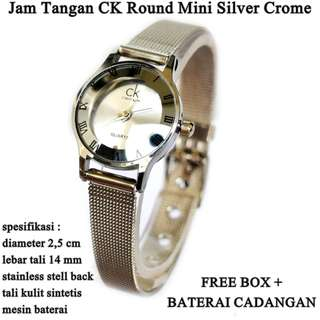 jam Wanita ck Stainless Mini Crome Silver