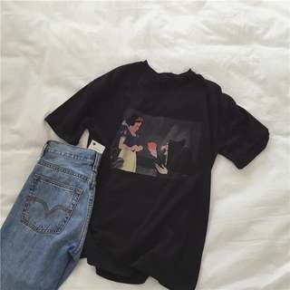 👉🏻白雪公主短袖T恤👈🏻女裝上衣 迪士尼上衣 紅蘋果 毒蘋果 巫婆 王后 皇后 黑色