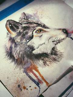 Alpha wolf A3 big size painting 🐺