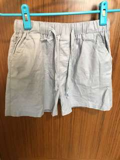 Korean loose shorts blue