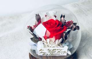 Preserved flower orb