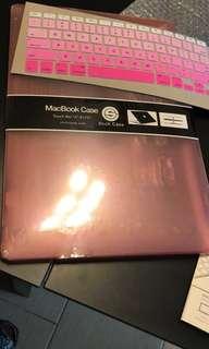 MacBook 機殼 15吋 粉紅色 連鍵盤套