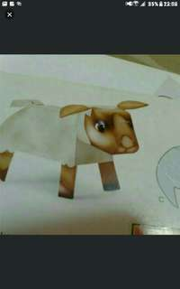 Selamat hari raya aidilfitri  Lamb Sheep 3d Paper Models   INDIVIDUALLY PACKED IN PLASTIC Bag  Each Pack Contains All Parts To Complete One Origami Animal
