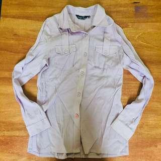 🚚 淺紫襯衫