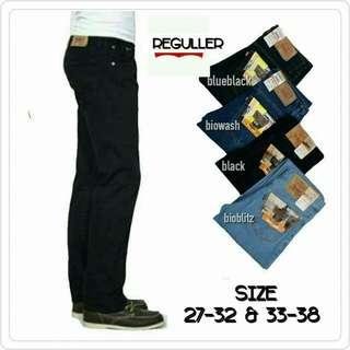 Celana jeans pria standar reguler