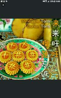 KUEH TARTS (PINEAPPLE / DURIAN TARTS) Each bottle at S20.  Halal  While stocks last!  Choose your top FOR YOUR TARTS!