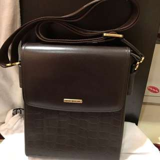 Inspired Cow Leather Mont Blanc Men Sling Bag