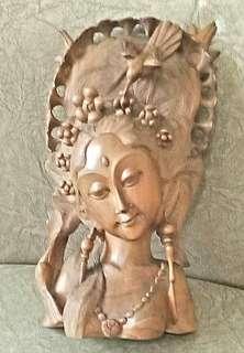 Antique Balinese teakwood sculpture