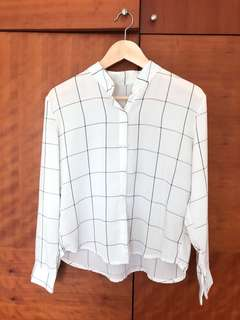 White grid shirt