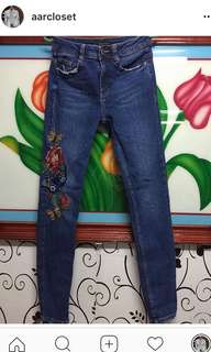 Zara embroidered pants