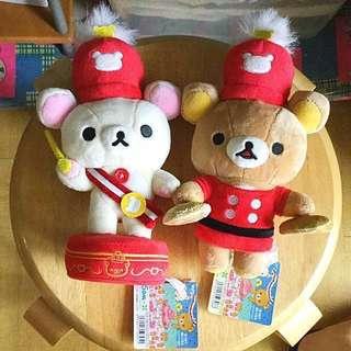 🈹️日本十週年大樂隊紀念版 絕版 鬆弛熊 輕鬆小熊 Rilakkuma 拉拉熊 牛奶熊 Korilakkuma 公仔 洋娃娃