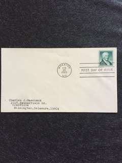 US 1965 25c Paul Revere Coil FDC stamp