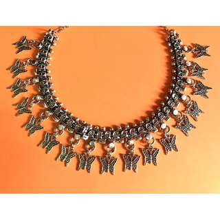🚚 Butterfly Oxidised Necklace Set