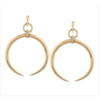Thin Round Big Large Dangle Earrings