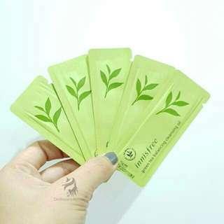 Sample innisfree green tea balancing cleansing oil 1ml (saset)