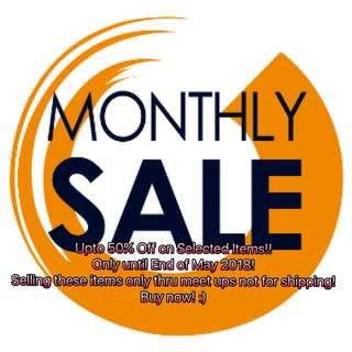 MONTHLY SALE!!