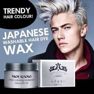 Japanese Washable Colour Hair Wax Grey