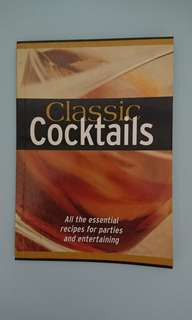 Classic cocktails book