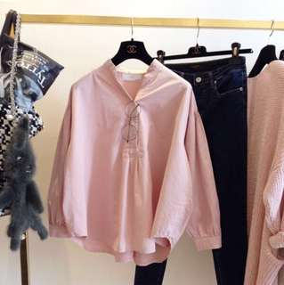 Dusty Pink Blouse / White Blouse / Loose Button Up Top Zara Inspired