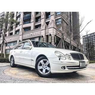 全額貸專區 2006年 賓士 BENZ E350 全車原鈑件 海關證明齊 八安全氣囊 多功能方向盤 皮椅 車況佳 可履約保證無重大事故泡水
