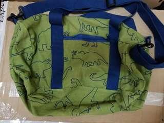 綠色恐龍圖案袋