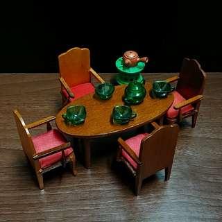 高檔擺設 餐檯 翡翠茶具 木製 舊式圓檯 裝飾 火水爐 茶几 Antique furniture rement