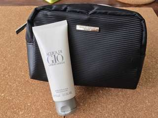 Armani Pouch/Toiletry with Aftershave