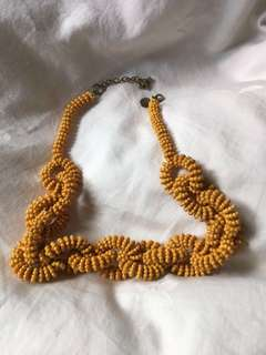 LOVISA - mustard colour necklace
