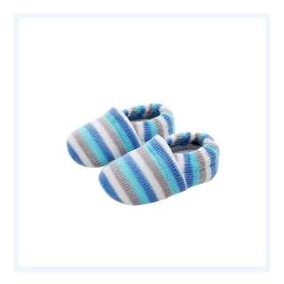 Knitted Prewalkers - Blue