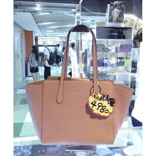 Gucci Pink Leather Shoulder Shopping Tote Hand Bag 古馳 粉紅色 牛皮 皮革 手挽袋 手袋 肩袋 袋 購物袋