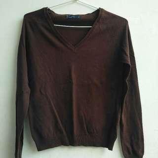 Zara Long Sleeve t-shirt brown.