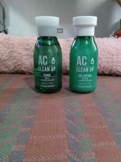 Etude House AC CleanUp Gel Lotion & Toner 15ml