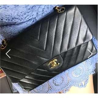 Chanel Vintage Chevron Flap Bag