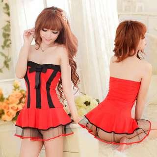 TCWK Sexy Women Uniform Lingerie Underwear Sleepwear Red E509