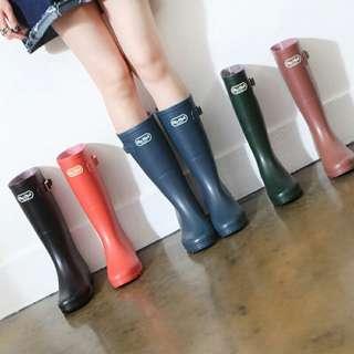 🚚 🇰🇷 質感扣帶雨靴/高筒