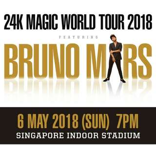 WTT/WTS Bruno Mars (24k Tour) Sunday, 6-May 7pm