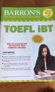 Barron's TOEFL IBT 14th edition